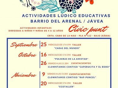 ACTIVIDADES INFANTILES LÚDICO EDUCATIVAS - CIVIC PUNT - JÁVEA