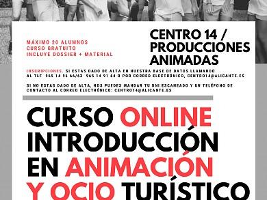 CURSO ONLINE INTRODUCCIÓN A LA ANIMACIÓN Y OCIO TURÍSTICO